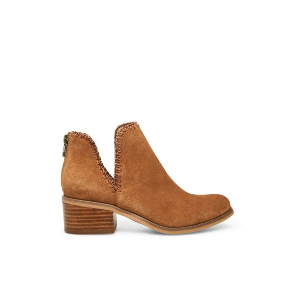 Clearance Sale - Steve Madden Women's Booties LACY Cognac Suede