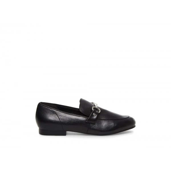 Steve Madden Women's Flats KENSLEY Black Leather Black Friday 2020