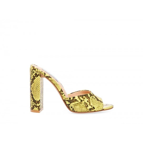 Steve Madden Women's Heels CENTRAL Yellow Snake Black Friday 2020