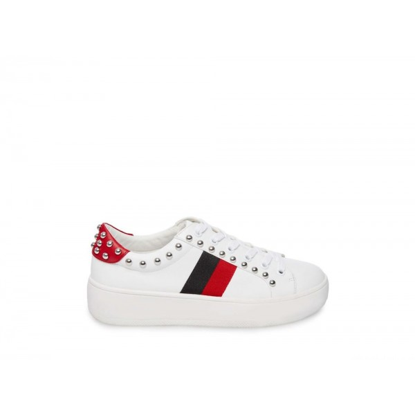 Clearance Sale - Steve Madden Women's Sneakers BELLE WHITE Multi