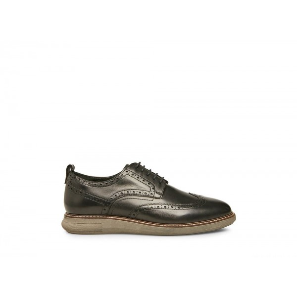 Clearance Sale - Steve Madden Men's Lace-up TRUMAN Black Leather
