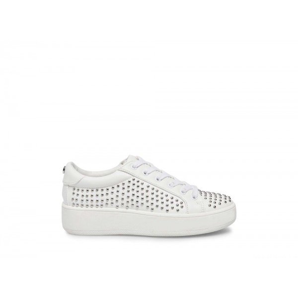 Steve Madden Women's Sneakers BADIE WHITE WITH STUDS Black Friday 2020
