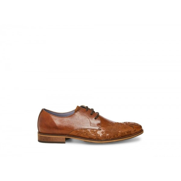Clearance Sale - Steve Madden Men's Lace-up DAHLIA Cognac Leather
