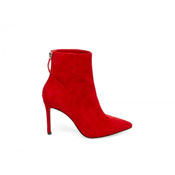 Steve Madden Women's Booties CAREY Red Suede Black Friday 2020