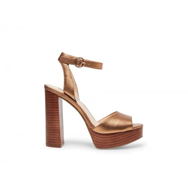 Clearance Sale - Steve Madden Women's Heels MADELINE BRONZE Leather