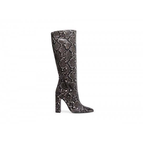 Clearance Sale - Steve Madden Women's Boots ROUGE Grey Snake