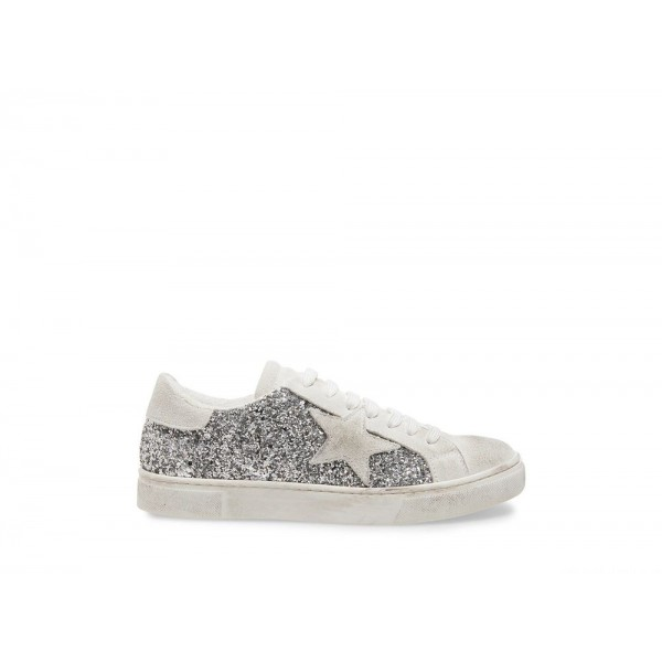 Steve Madden Women's Sneakers RUBIE SILVER GLITTER Black Friday 2020