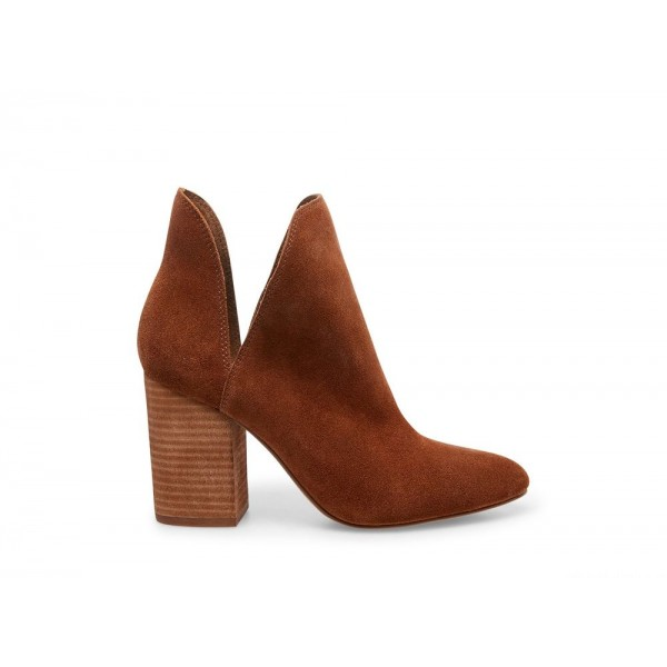 Clearance Sale - Steve Madden Women's Booties ROOKIE Cognac Suede