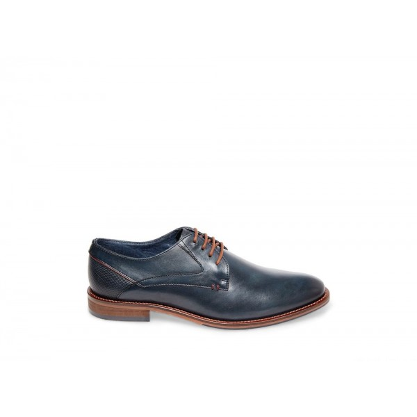 Steve Madden Men's Lace-up GEARY Navy Leather