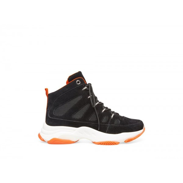 Clearance Sale - Steve Madden Men's Casual TITanIUM Black/ORANGE