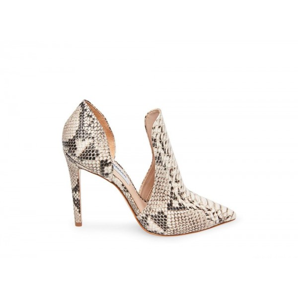 Clearance Sale - Steve Madden Women's Booties DOLLY NATURAL Snake
