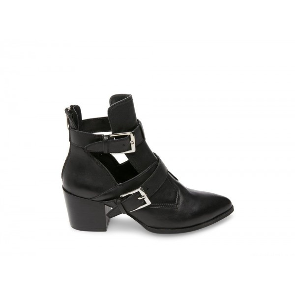 Clearance Sale - Steve Madden Women's Booties NANCY Black Leather
