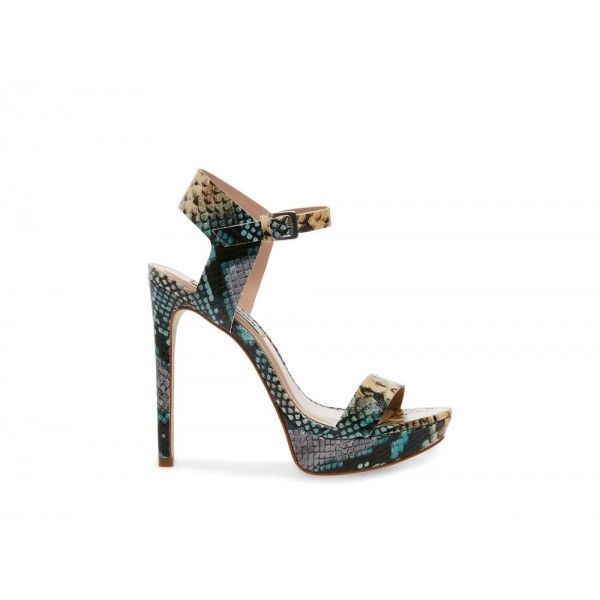 Steve Madden Women's Heels FASCINATE BLUE Snake Black Friday 2020
