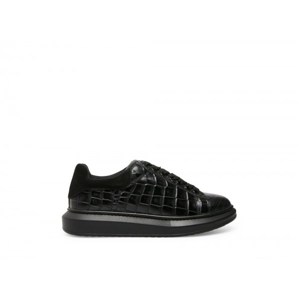 Steve Madden Men's Casual FROSTED-C Black CROCODILE Black Friday 2020