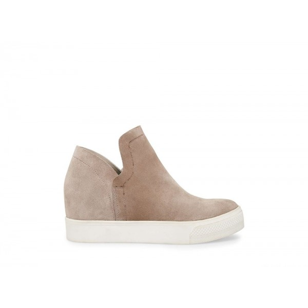 Steve Madden Women's Sneakers WRANGLE Taupe Suede Black Friday 2020