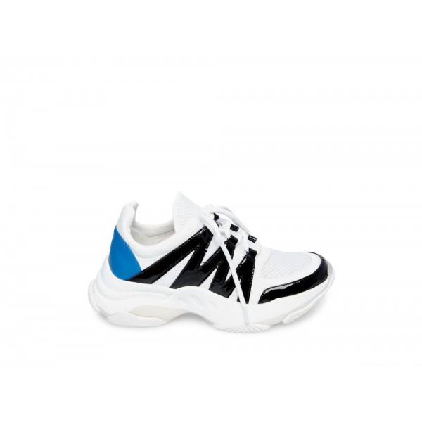 Steve Madden Women's Sneakers MAXIMUS WHITE Multi Black Friday 2020