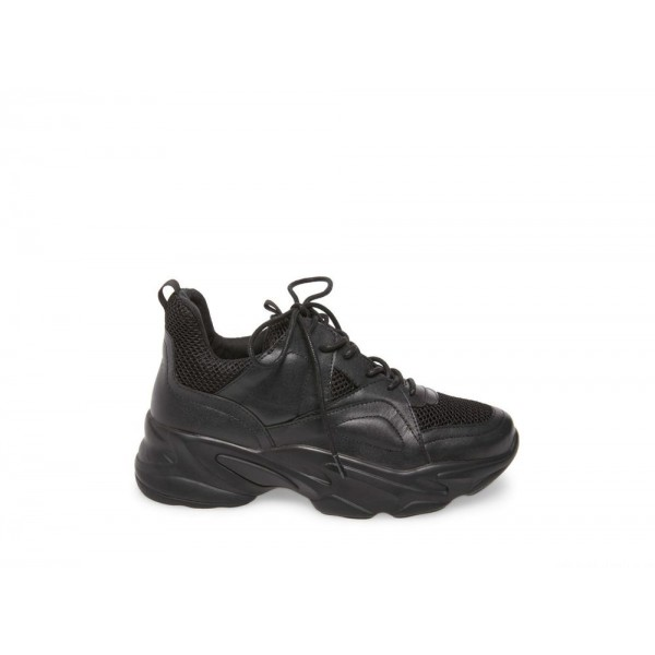 Clearance Sale - Steve Madden Women's Sneakers MOVEMENT Black Leather