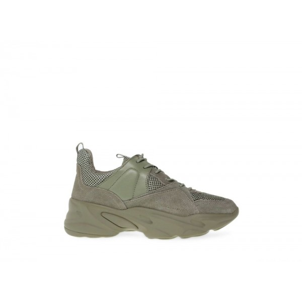 Steve Madden Women's Sneakers MOVEMENT OLIVE Suede Black Friday 2020