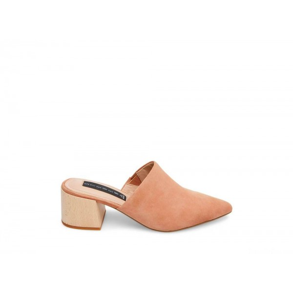 Steve Madden Women's Mules FLORIN NUDE Suede Black Friday 2020