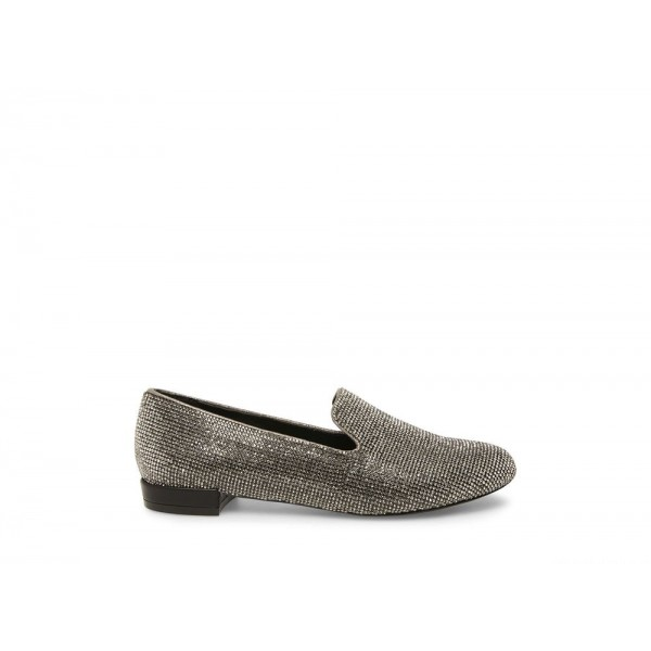 Clearance Sale - Steve Madden Women's Flats SMILE Black/PEWTER