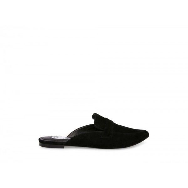 Clearance Sale - Steve Madden Women's Flats FLAVOR Black Suede